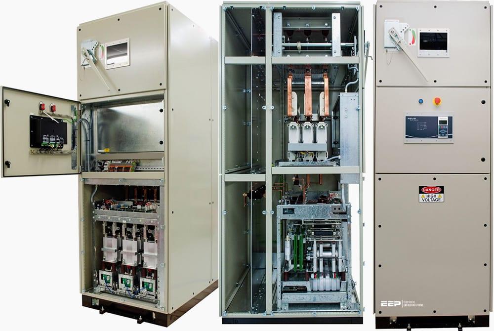 Medium voltage soft starter for heavy-duty motor control