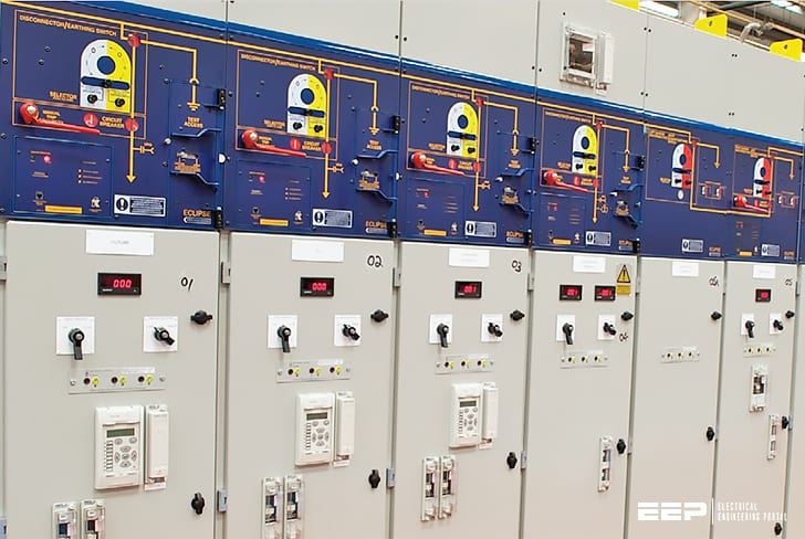 Standard cubicle configurations for a medium voltage metal-enclosed switchgear